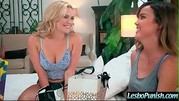 (Dillion Harper & Mia Malkova) Lez Girl Get Punish With Sex Toys By Mean Lesbo movie-06 7 min