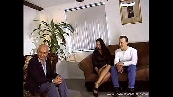 3some For Brunette Swinger Wife 14 min