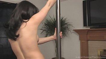 Hot stripper has fun with dancing 12 min