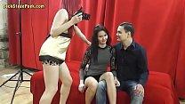 Skinny whore opens her legs for a stranger 7 min