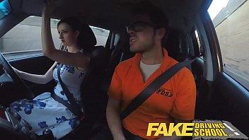 Fake Driving School Posh freaky redhead with big tits and ginger bush fucks 14 min