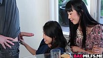 Sexy Asians Cindy and Marica love huge hard cock 8 min