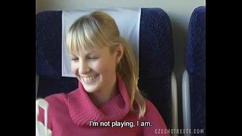 Czech streets Blonde girl in train 11 min