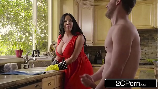 Chubby Busty Stepmom's Cum Cleaning - Sybil Stallone 7 min