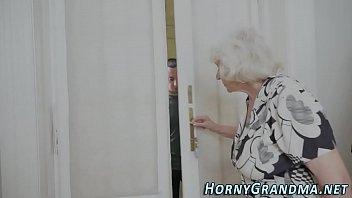 Fuzzy granny jizz mouthed 6 min