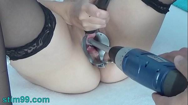 Peehole Play with Drilldo and Bladder filled with Cum and Piss