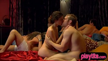 Everyday amateur couple as first time swingers