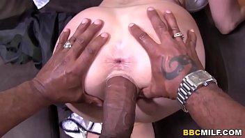 Big titted Cougar Tiffany Mynx Fucks Two Black Cocks