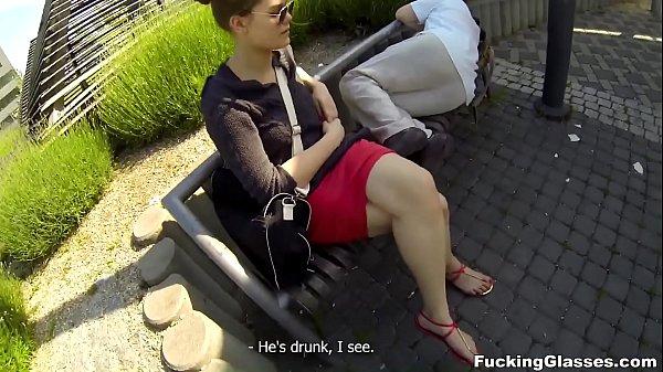 Fucking Glasses - Outdoor fuck Lota in spycam glasses 11 min