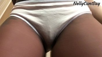 close up of big pussy in panties