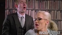 The bitch of my secretary Rebecca Moore seduces me by an increase