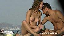 Real public voyeur did it again  beach cam naked ass on the beach