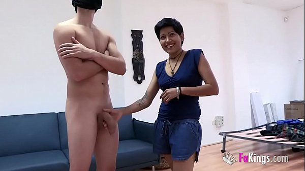 Cleaning lady is such a slut and wants to taste Fabio's enormous cock, buth her husband cannot know it 35 min