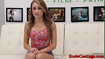 Casting teen hardfucked and facialized
