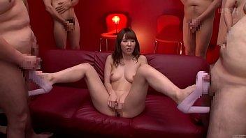 Subtitled JAV legend Yui Hatano naked masturbation party