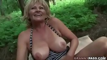 Busty Granny Gets Fucked In The Forest 7 min