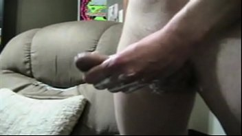 Dropping a long ropey cumload regular and half-speed 3 min