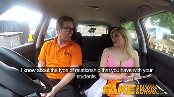 Fake Driving School Posh horny busty examiner swallows a big load 14 min
