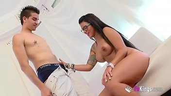 Just about time! Busty Tania's very first porn scene! 65 min