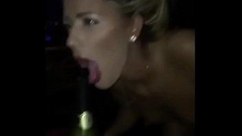 d. girl deepthroats a champagne bottle at a party - ThroatQueens.net 56 sec