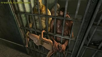 Lara Croft fuck toy in prison 3D porn
