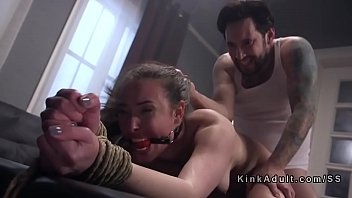 Tied up slave gagged and anal fucked 5 min