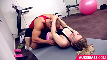 Cute blonde Madison has sex with her personal trainer at the gym 20 min