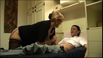The Nasty aunt and her unarmed little boy! Hot Milf! 27 min