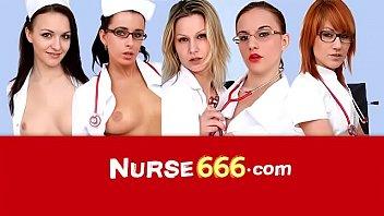 Big boobs Euro nurse Kathy Sweet spreading twat