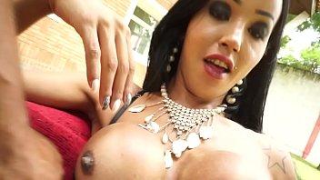 Latina Tranny Thais Tavares Bareback