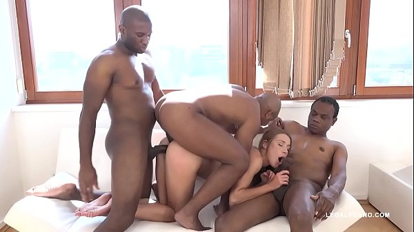Teen Nympho Alexis Crystal gets Blacked by 3 bulls & creampied in all holes