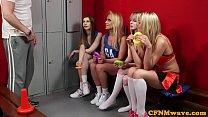 English cheerleaders dominating sub in group