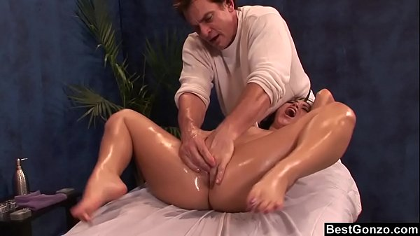 BestGonzo - Teen is slippery wet after erotic oil massage. 13 min
