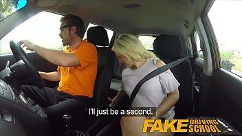 Fake Driving School Sexual discount for big tits blonde Scottish babe 10 min