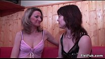 Two horny lesbians satisfying each other