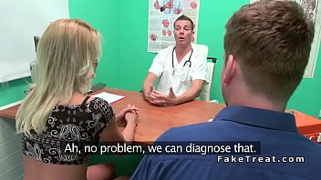 Blonde cheating bf with doctor (Stор Jerking Off! Join Now: HotDating24.com)