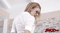 Lovely blonde schoolgirl Alexa Grace getting drilled deep
