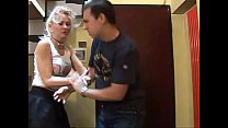 Crazy sex: a man a. and brutalized by a hot blonde! 26 min