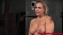 Machine fucked bonded slut throated deeply 8 min