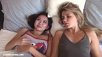 Teen girlfriends Mary Kalisy & Harriet Sugarcookie having lesbian sex