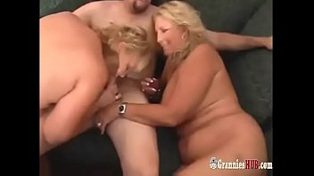 Hot Chubby Lesbian GILF Blondes In Threesome