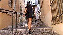 BDSM model Alex Zothberg walking in Antibes