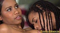 Pretty Jenna Foxx and Kira Noir Try Licking Pussy