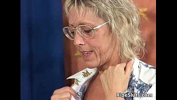 Sexy blonde mature teacher is hot as she 31 min