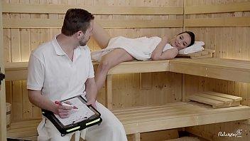 RELAXXXED - Wet sauna sex with gorgeous brunette Brazilian babe Francys Belle