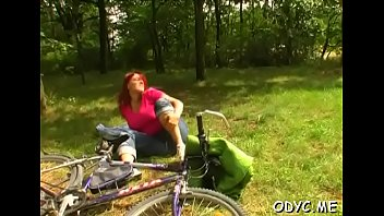 Busty legal age teenager rides old shlong 5 min