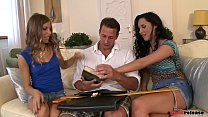 Professor has a dirty threesome with two coed Bookworms