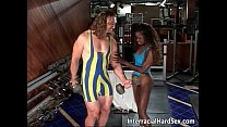 Interracial sex in the gym where muscled 13 min