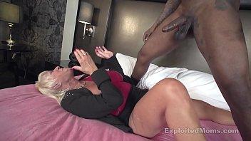 Mature Granny w Big Tits fucks Big Black Cock in Interracial Video