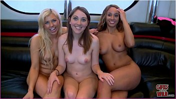 GIRLS GONE WILD - Young Lesbians Experience Threesome For The First Time